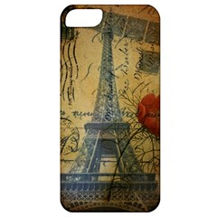 Vintage Stamps Postage Poppy Flower Floral Eiffel Tower Vintage Paris Apple iPhone 5 Classic Hardshell Case