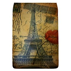 Vintage Stamps Postage Poppy Flower Floral Eiffel Tower Vintage Paris Removable Flap Cover (Small)
