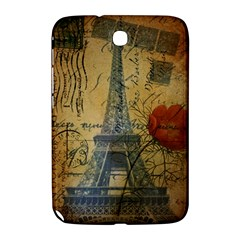 Vintage Stamps Postage Poppy Flower Floral Eiffel Tower Vintage Paris Samsung Galaxy Note 8 0 N5100 Hardshell Case