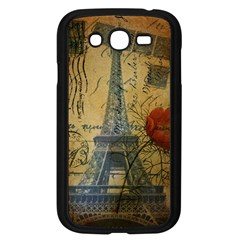 Vintage Stamps Postage Poppy Flower Floral Eiffel Tower Vintage Paris Samsung I9082(Galaxy Grand DUOS)(Black)