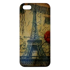 Vintage Stamps Postage Poppy Flower Floral Eiffel Tower Vintage Paris iPhone 5S Premium Hardshell Case