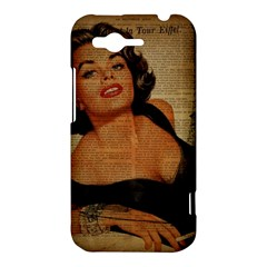 Vintage Newspaper Print Pin Up Girl Paris Eiffel Tower HTC Rhyme Hardshell Case