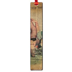 Vintage Newspaper Print Sexy Hot Pin Up Girl Paris Eiffel Tower Large Bookmark