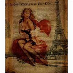 Vintage Newspaper Print Sexy Hot Gil Elvgren Pin Up Girl Paris Eiffel Tower Canvas 20  x 20  (Unframed)