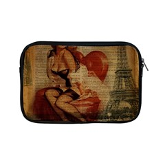 Vintage Newspaper Print Sexy Hot Gil Elvgren Pin Up Girl Paris Eiffel Tower Apple Ipad Mini Zipper Case