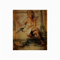 Vintage Newspaper Print Sexy Hot Gil Elvgren Pin Up Girl Paris Eiffel Tower Canvas 20  X 30  (unframed)
