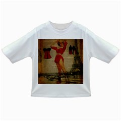 Vintage Newspaper Print Sexy Hot Gil Elvgren Pin Up Girl Paris Eiffel Tower Western Country Naughty  Baby T-shirt