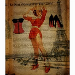 Vintage Newspaper Print Sexy Hot Gil Elvgren Pin Up Girl Paris Eiffel Tower Western Country Naughty  Canvas 20  x 20  (Unframed)