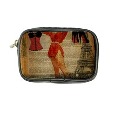 Vintage Newspaper Print Sexy Hot Gil Elvgren Pin Up Girl Paris Eiffel Tower Western Country Naughty  Coin Purse