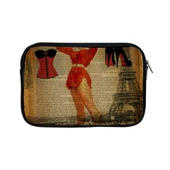 Vintage Newspaper Print Sexy Hot Gil Elvgren Pin Up Girl Paris Eiffel Tower Western Country Naughty  Apple Ipad Mini Zipper Case