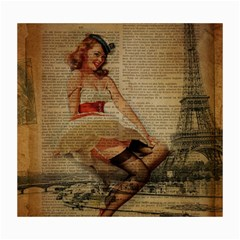 Cute Sweet Sailor Dress Vintage Newspaper Print Sexy Hot Gil Elvgren Pin Up Girl Paris Eiffel Tower Canvas 16  x 20  (Unframed)