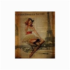 Cute Sweet Sailor Dress Vintage Newspaper Print Sexy Hot Gil Elvgren Pin Up Girl Paris Eiffel Tower Canvas 20  X 30  (unframed)