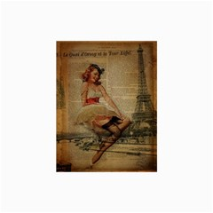 Cute Sweet Sailor Dress Vintage Newspaper Print Sexy Hot Gil Elvgren Pin Up Girl Paris Eiffel Tower Canvas 24  x 36  (Unframed)