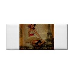 Cute Sweet Sailor Dress Vintage Newspaper Print Sexy Hot Gil Elvgren Pin Up Girl Paris Eiffel Tower Hand Towel