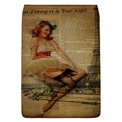 Cute Sweet Sailor Dress Vintage Newspaper Print Sexy Hot Gil Elvgren Pin Up Girl Paris Eiffel Tower Removable Flap Cover (small)