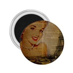 Yellow Dress Blonde Beauty   2 25  Button Magnet