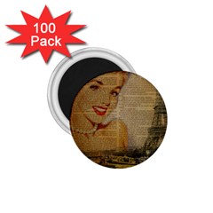 Yellow Dress Blonde Beauty   1 75  Button Magnet (100 Pack)