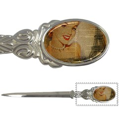 Yellow Dress Blonde Beauty   Letter Opener