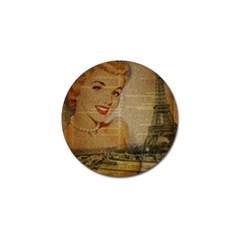 Yellow Dress Blonde Beauty   Golf Ball Marker 4 Pack