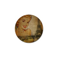 Yellow Dress Blonde Beauty   Golf Ball Marker 10 Pack