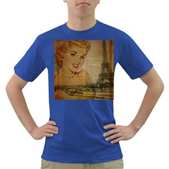 Yellow Dress Blonde Beauty   Mens' T-shirt (Colored)