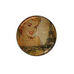 Yellow Dress Blonde Beauty   Golf Ball Marker 4 Pack (for Hat Clip)