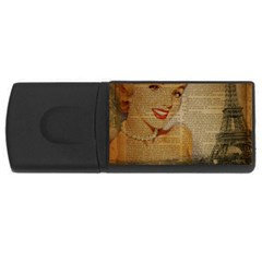 Yellow Dress Blonde Beauty   4gb Usb Flash Drive (rectangle)