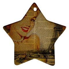 Yellow Dress Blonde Beauty   Star Ornament (two Sides)