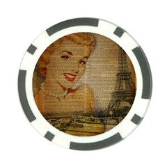 Yellow Dress Blonde Beauty   Poker Chip