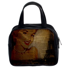 Yellow Dress Blonde Beauty   Classic Handbag (Two Sides)