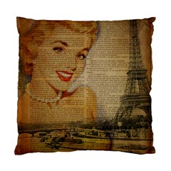 Yellow Dress Blonde Beauty   Cushion Case (Two Sided)
