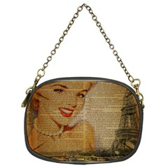Yellow Dress Blonde Beauty   Chain Purse (Two Sided)
