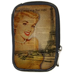 Yellow Dress Blonde Beauty   Compact Camera Leather Case