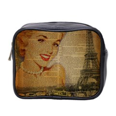 Yellow Dress Blonde Beauty   Mini Travel Toiletry Bag (Two Sides)