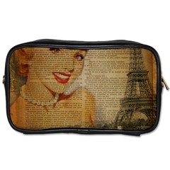 Yellow Dress Blonde Beauty   Travel Toiletry Bag (One Side)