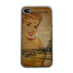 Yellow Dress Blonde Beauty   Apple iPhone 4 Case (Clear)