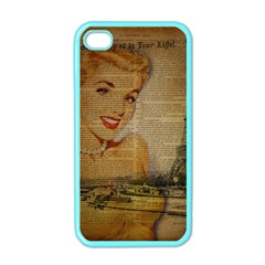 Yellow Dress Blonde Beauty   Apple iPhone 4 Case (Color)