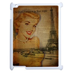Yellow Dress Blonde Beauty   Apple Ipad 2 Case (white)