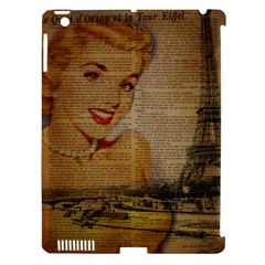 Yellow Dress Blonde Beauty   Apple iPad 3/4 Hardshell Case (Compatible with Smart Cover)