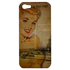 Yellow Dress Blonde Beauty   Apple iPhone 5 Hardshell Case