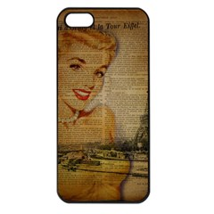 Yellow Dress Blonde Beauty   Apple Iphone 5 Seamless Case (black)