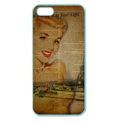 Yellow Dress Blonde Beauty   Apple Seamless Iphone 5 Case (color)