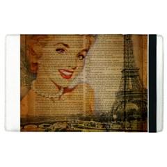 Yellow Dress Blonde Beauty   Apple iPad 3/4 Flip Case