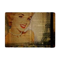 Yellow Dress Blonde Beauty   Apple iPad Mini Flip Case