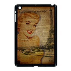 Yellow Dress Blonde Beauty   Apple iPad Mini Case (Black)