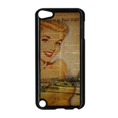 Yellow Dress Blonde Beauty   Apple iPod Touch 5 Case (Black)