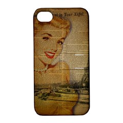 Yellow Dress Blonde Beauty   Apple iPhone 4/4S Hardshell Case with Stand