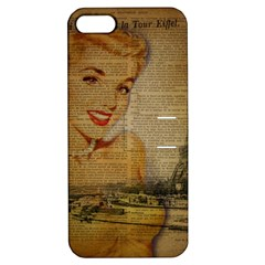 Yellow Dress Blonde Beauty   Apple Iphone 5 Hardshell Case With Stand