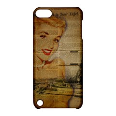 Yellow Dress Blonde Beauty   Apple iPod Touch 5 Hardshell Case with Stand