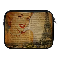 Yellow Dress Blonde Beauty   Apple iPad 2/3/4 Zipper Case